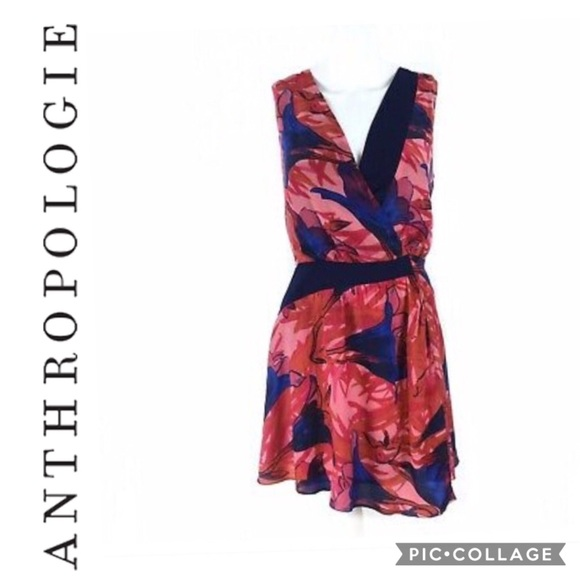 Anthropologie Dresses & Skirts - Leifsdottir Floral Asymmetrical Dress - Size 4